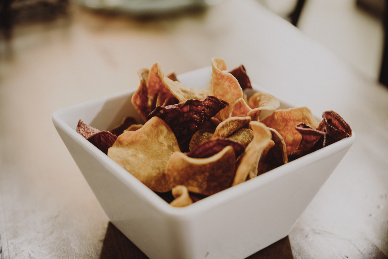 Handmade veggie chips / Image: Brianna Long // Published: 9.12.18
