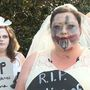 'Zombie brides' voice opposition to proposed healthcare bill