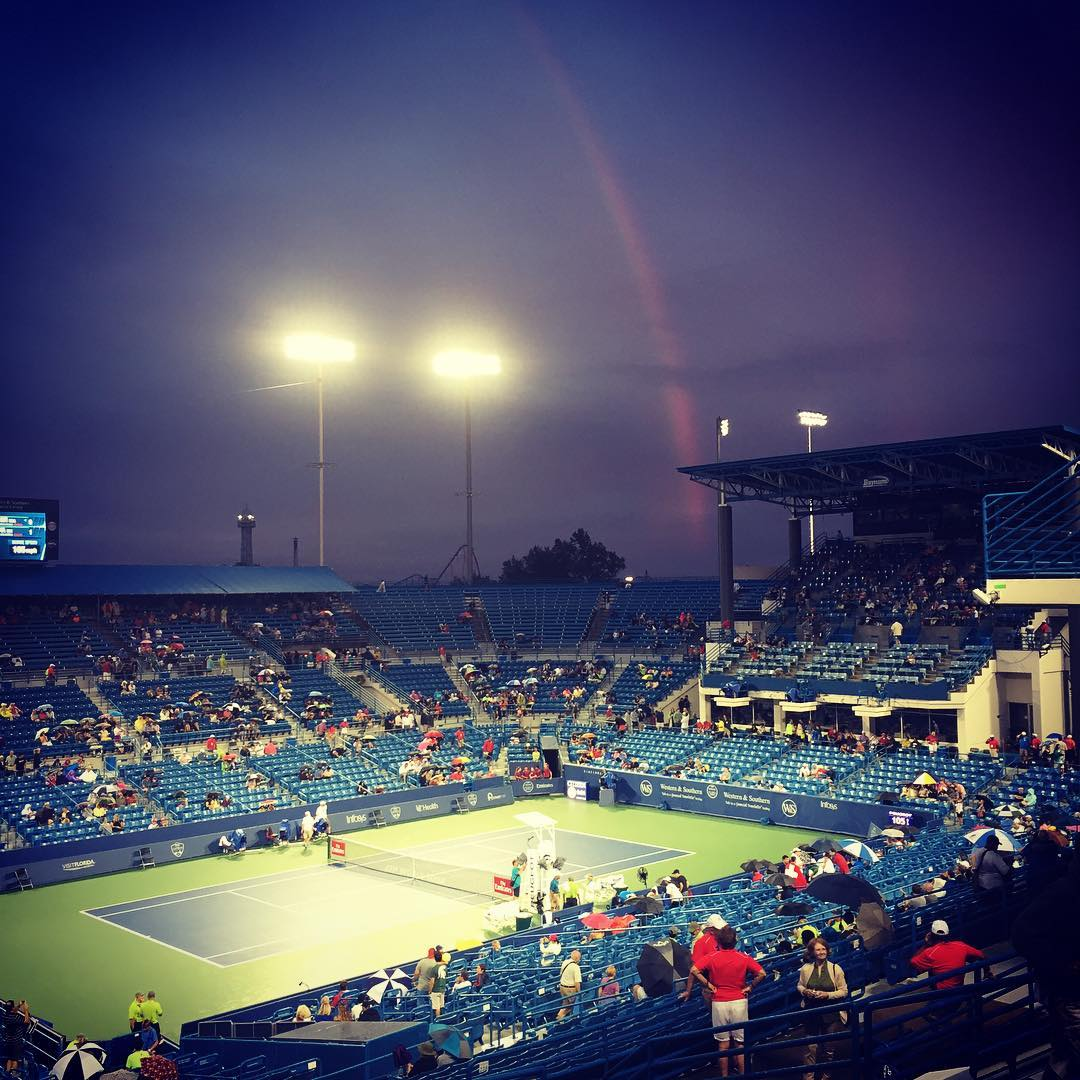 IMAGE: IG user @smackiespets / POST: Even through the rain. #cincytennis