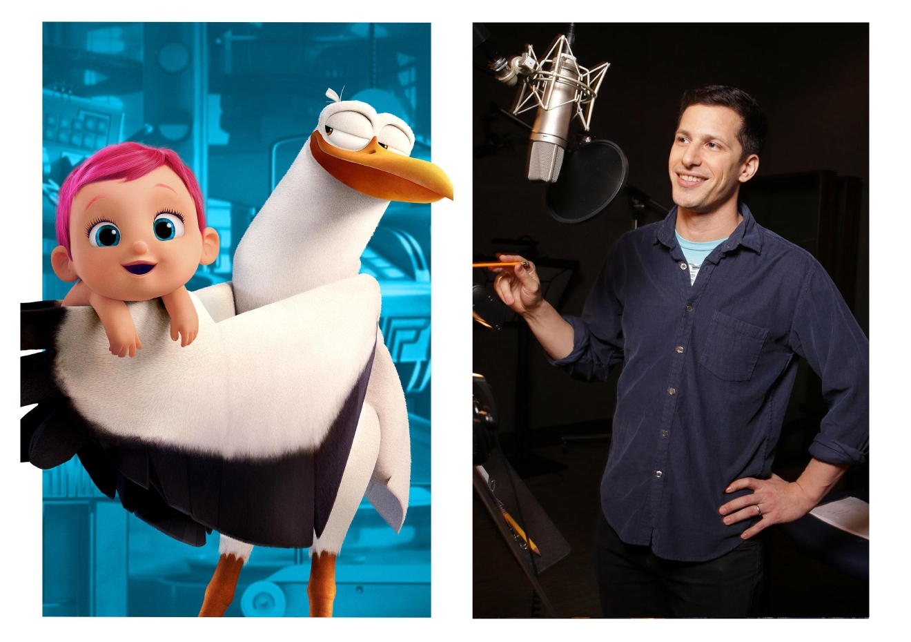 "Andy Samberg is the voice of Junior in the new animated adventure ""Storks.""   Photo Credit: Eric Charbonneau"