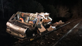 Train hit unoccupied RV left on tracks, Oregon firefighters say