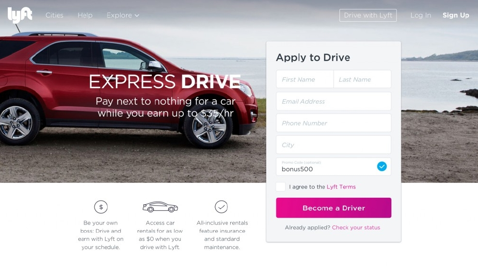 Want To Drive For Lyft Gm Will Rent You A Car For Cheap
