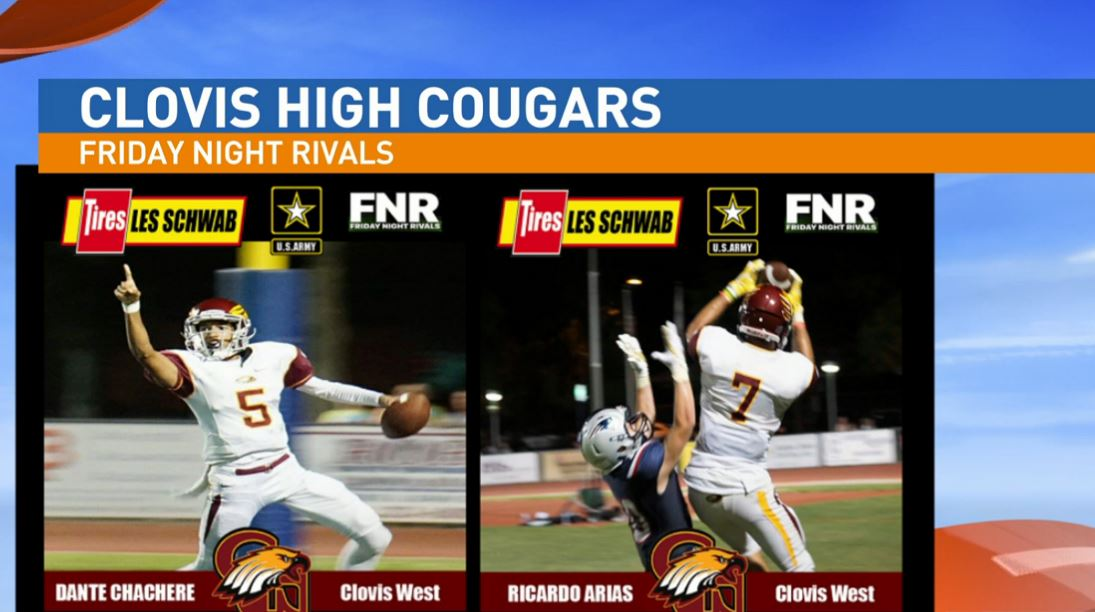 Our next game is a playoff matchup between the Clovis High Cougars and Clovis West{&amp;nbsp;} Golden Eagles.<p></p>