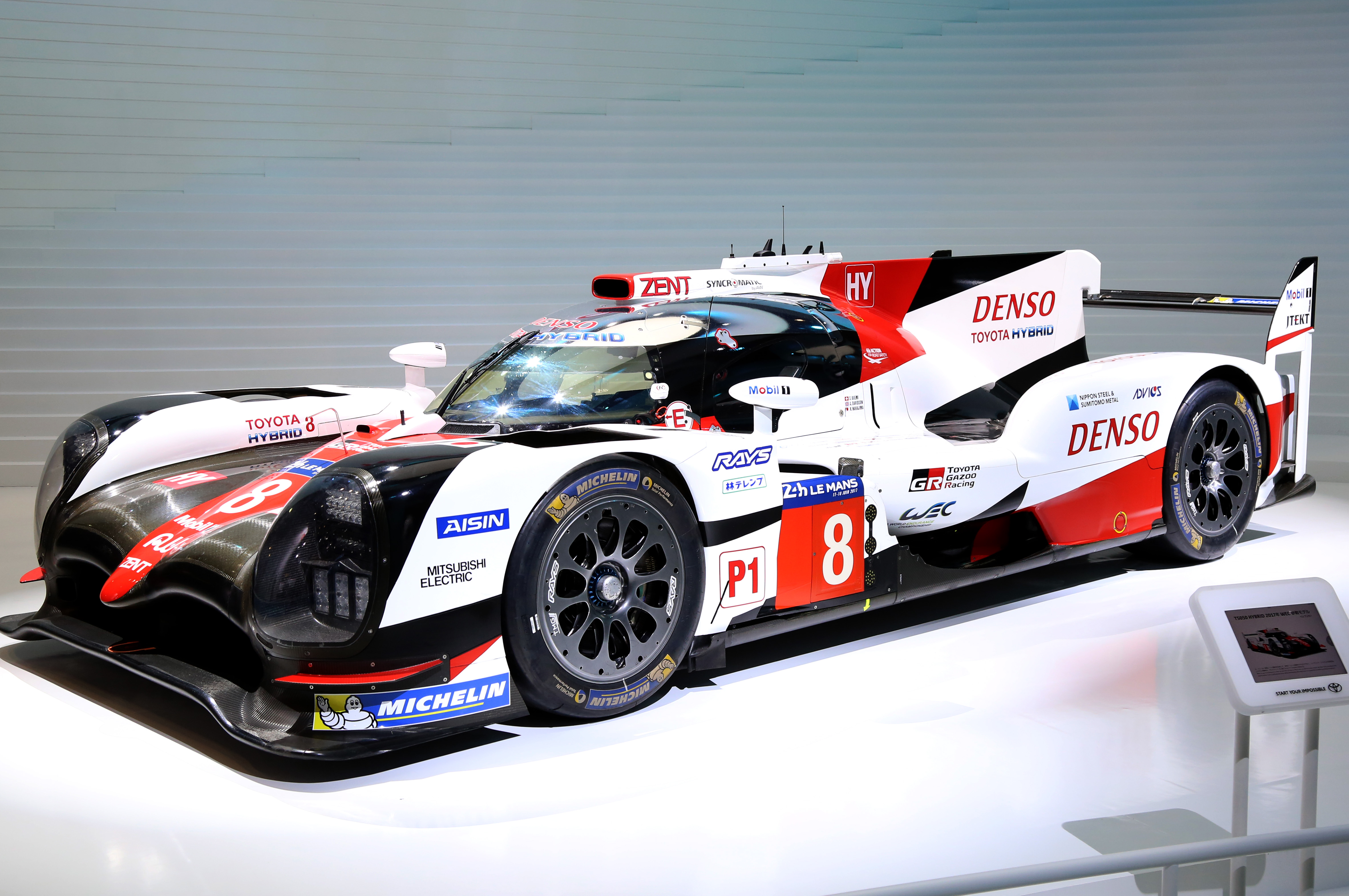 Tokyo Motor Show 2017  Featuring: Toyota TS050 Hybrid Where: Tokyo, Japan When: 25 Oct 2017 Credit: Yukio Tomita/Future Image/WENN.com  **Not available for publication in Germany**