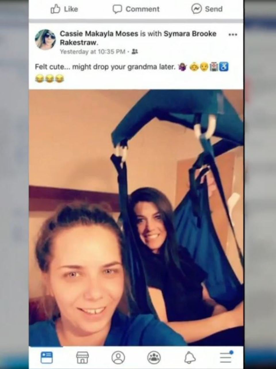 Two Nursing Aides Say They Were Fired After Felt Cute Pic Posted
