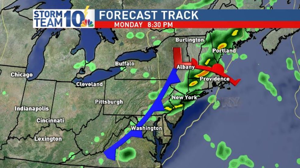 Scattered showers and thunderstorms possible on Labor Day