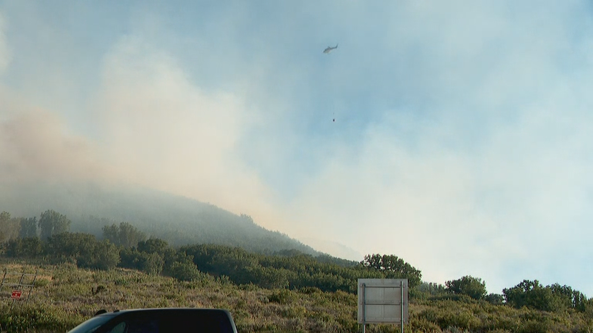The Parleys Fire broke out just before 7 p.m. on Monday and immediately threatened homes in the Mt. Aire area in Parley's Canyon. Residents were ordered to evacuate immediately. (Photo: Jake Emerson / KUTV)