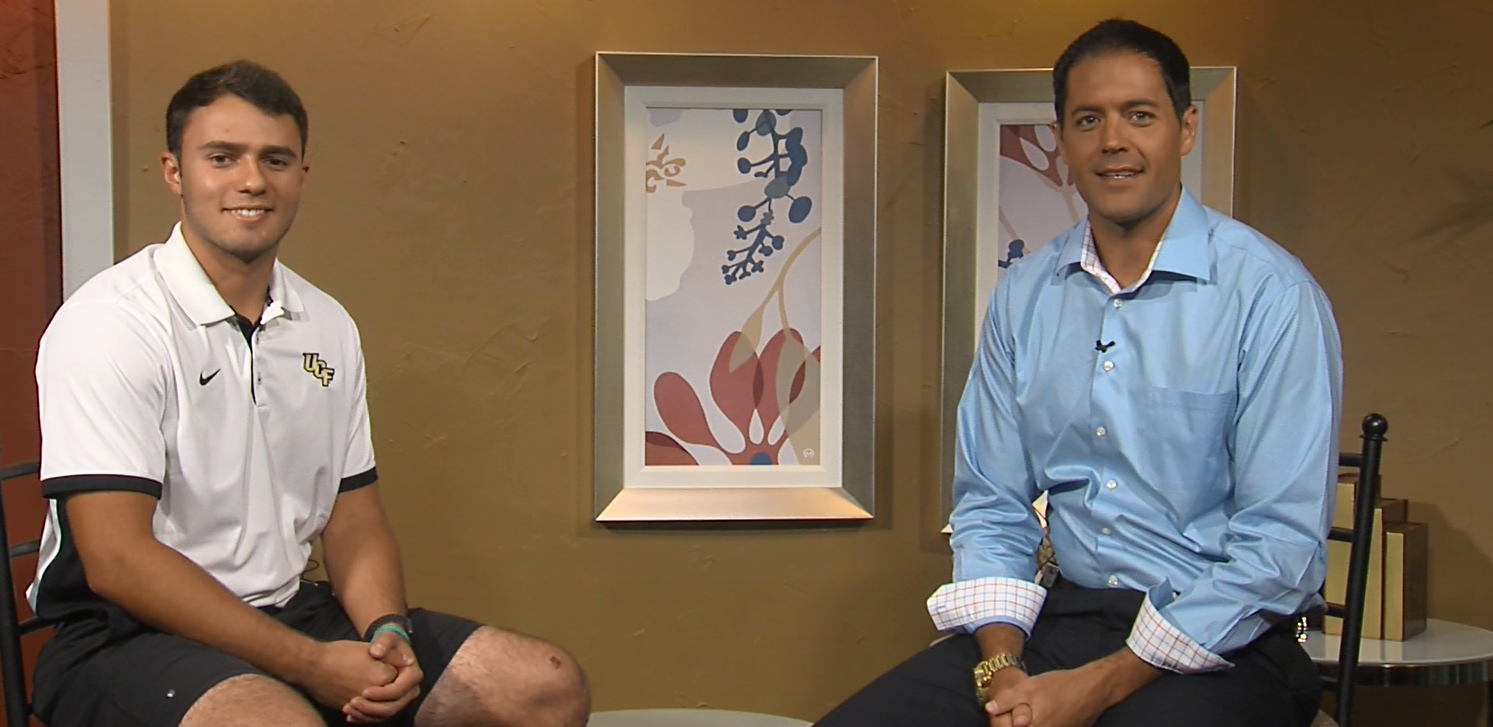 Alex Harris (left) sits down with Dave Griek of NTV to discuss his time in Orlando (NTV News)