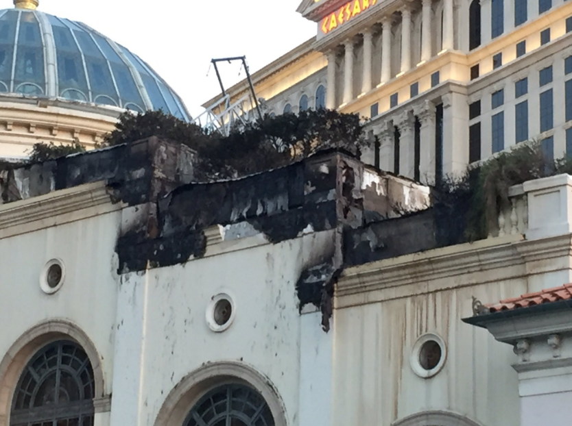 Clark County Fire Department crews knocked out the fire at the Bellagio, just after 11 p.m. on 4/13/17. (Kyndell Nunley | KSNV)