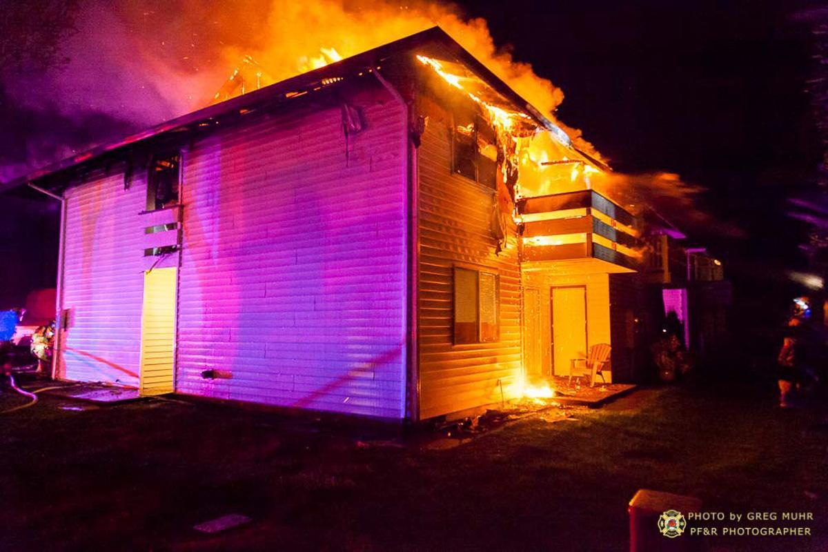 Fire Burns Through Gresham Apartment Building 4 Units