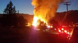 Update: Old plywood mill catches fire in Yreka