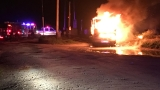 Sheriff: Man suffers burns as RV goes up in flames