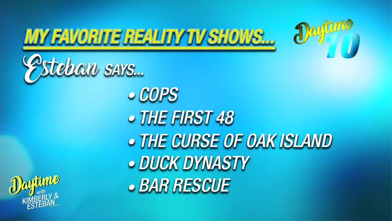 Favorite reality TV shows