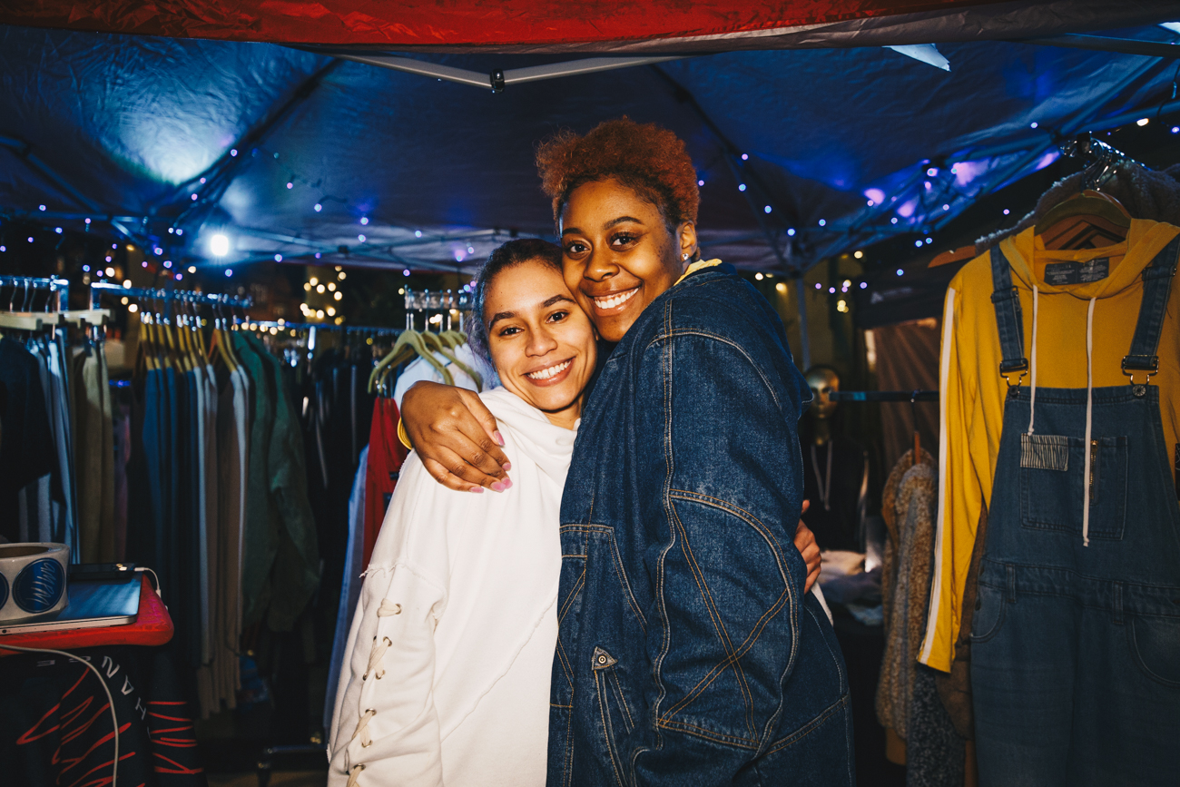 Eve Lyn Wulff and Myriah Hutchings, owner of Amp Exchange /{ }Image: Catherine Viox // Published: 12.16.18
