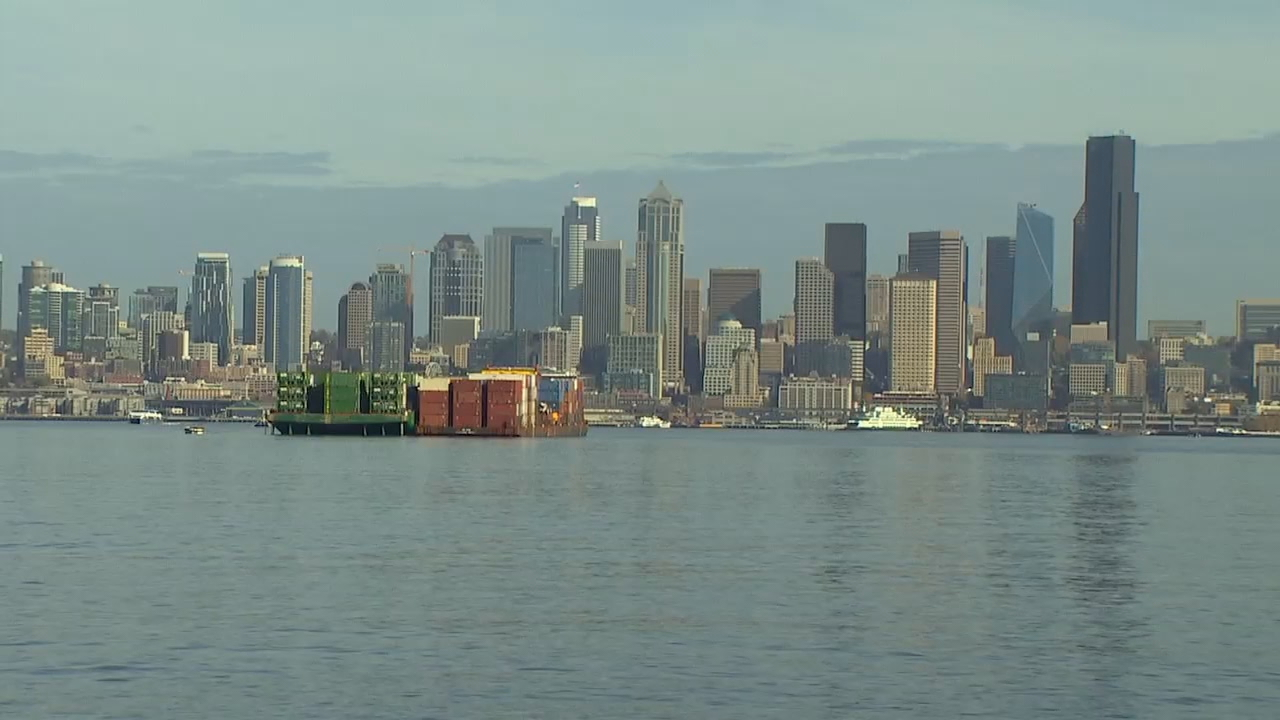 Researchers with the University of Washington have released new simulations revealing the best and worst places to be when a possible 9.0 earthquake hits. (Photo: KOMO News)<p></p>
