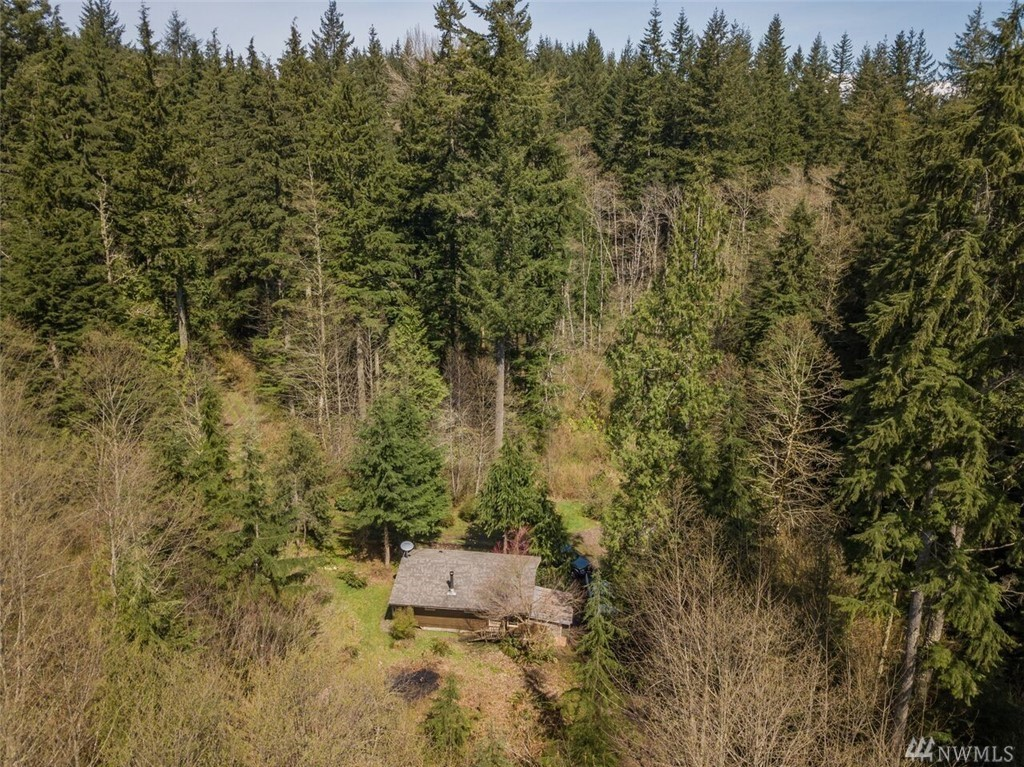 This home is in Monroe, WA and is a minimalists DREAM. The home sits on 10+ acres and is only 400 square feet. Talk about getting in tune with nature (Windermere Real Estate)