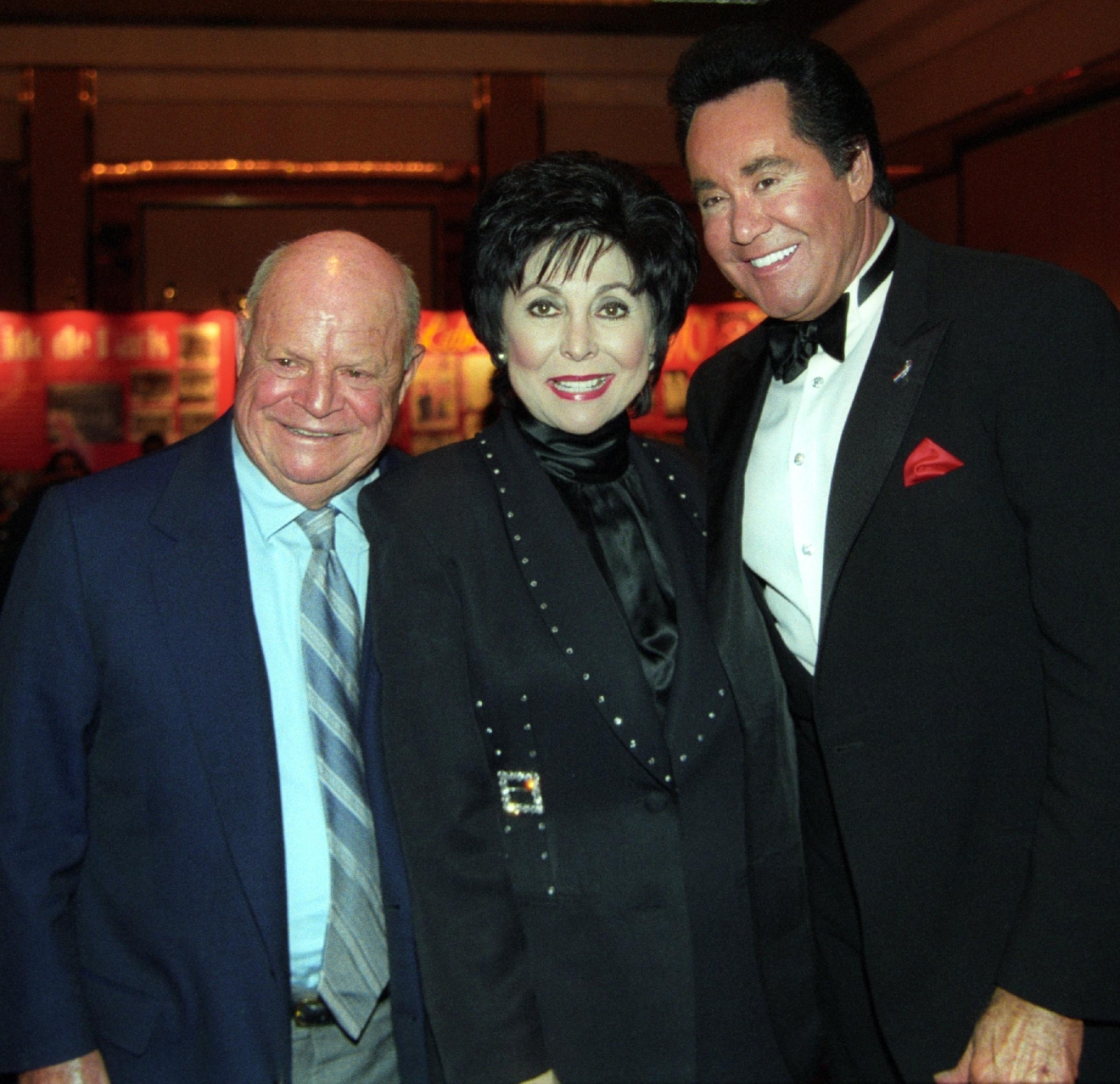 Don Rickles, Lorraine Hunt and Wayne Newton at the Stardust on July 8, 2003. [Las Vegas News Bureau file photo]