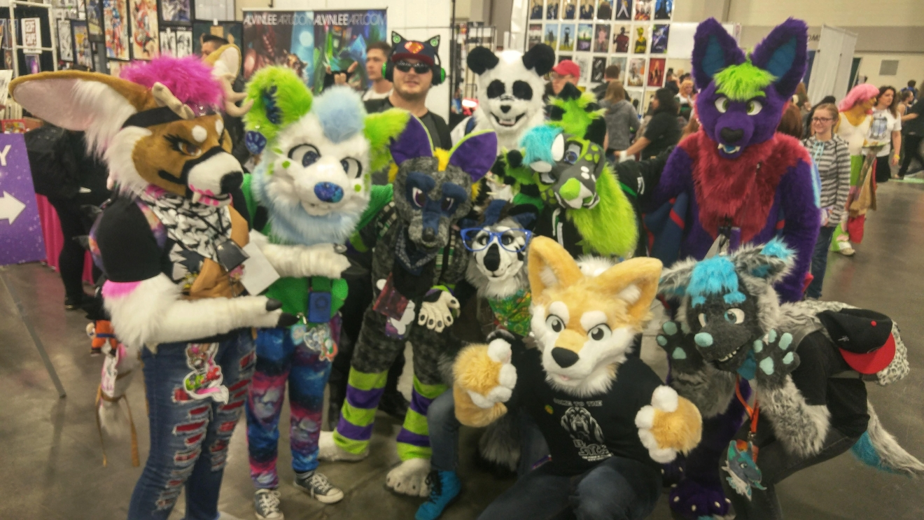 Salt Lake Comic Con FanX attendants dress up as Furries. (Photo: Melissa Youngberg / KUTV)