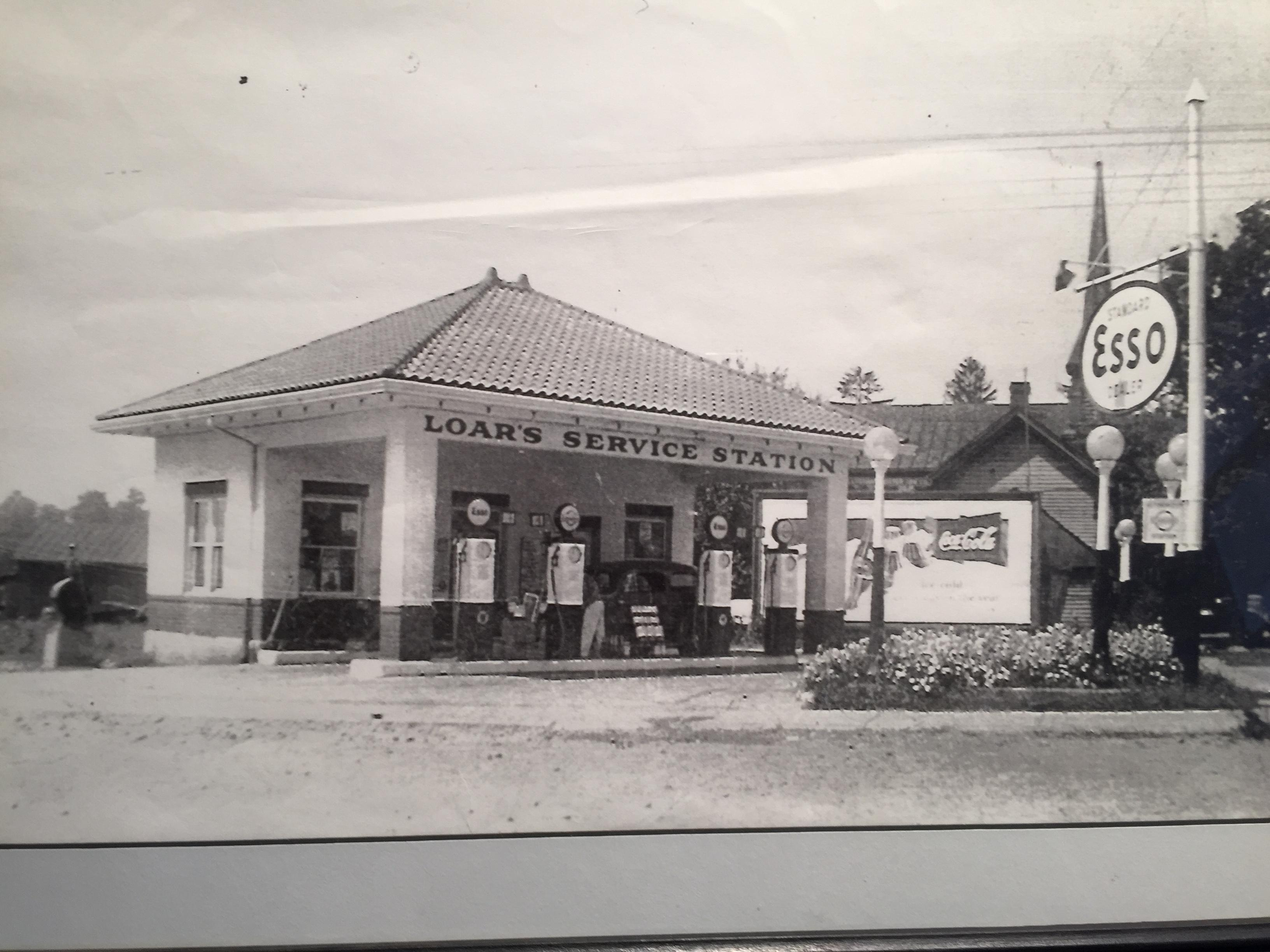 Photo from the 1920s when the station was called Loar's Service Station. (WCHS/WVAH)<p></p>