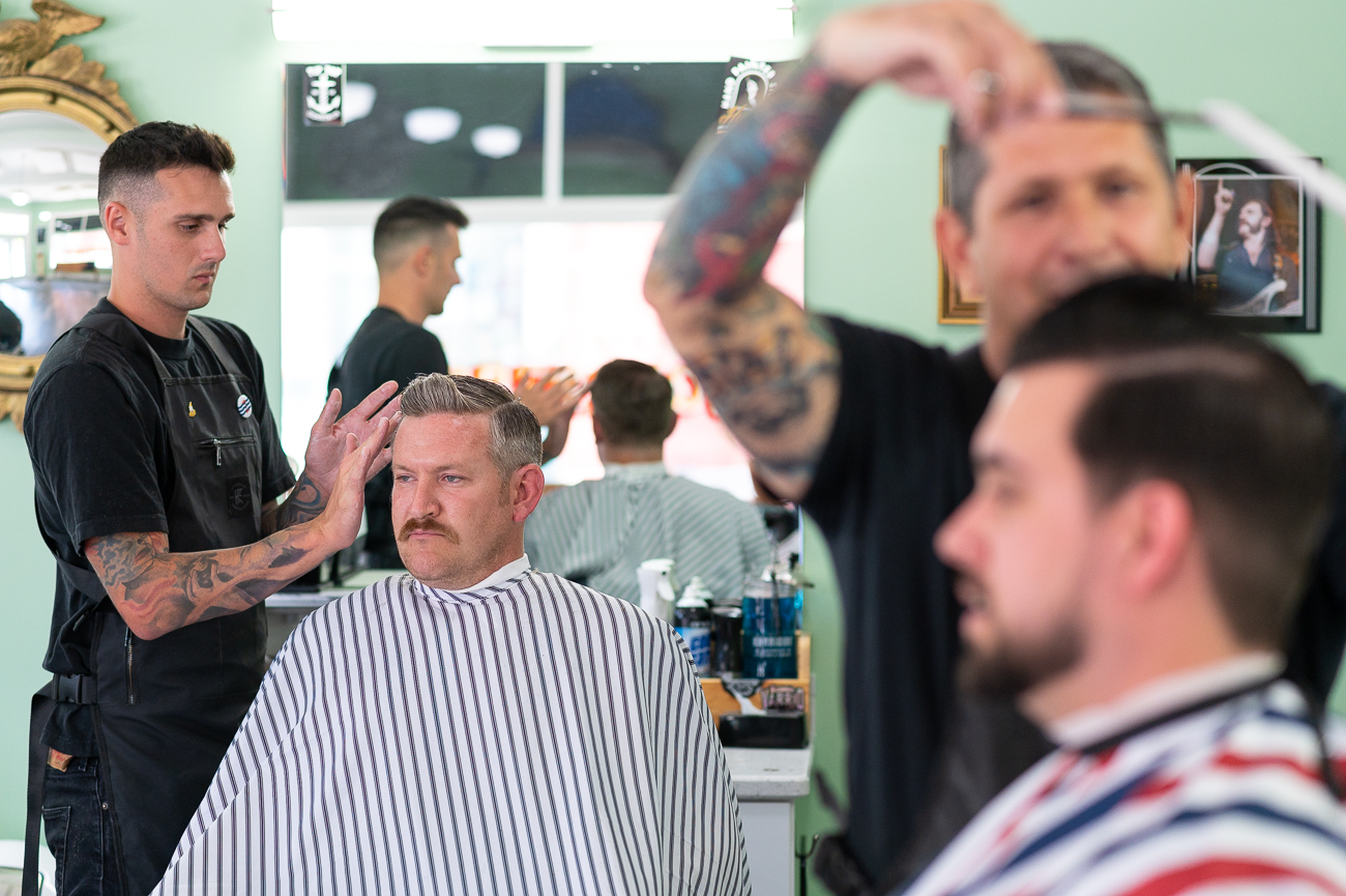 "<p>The Bellevue Barbershop is where generations of men can get a fresh cut for a reasonable price. ""It's a place for people of all backgrounds to come and bond together,"" Chris says. To him, it's not just about the haircut; it's about building friendships within the community he serves. / Image: Phil Armstrong, Cincinnati Refined // Published: 7.10.20</p>"