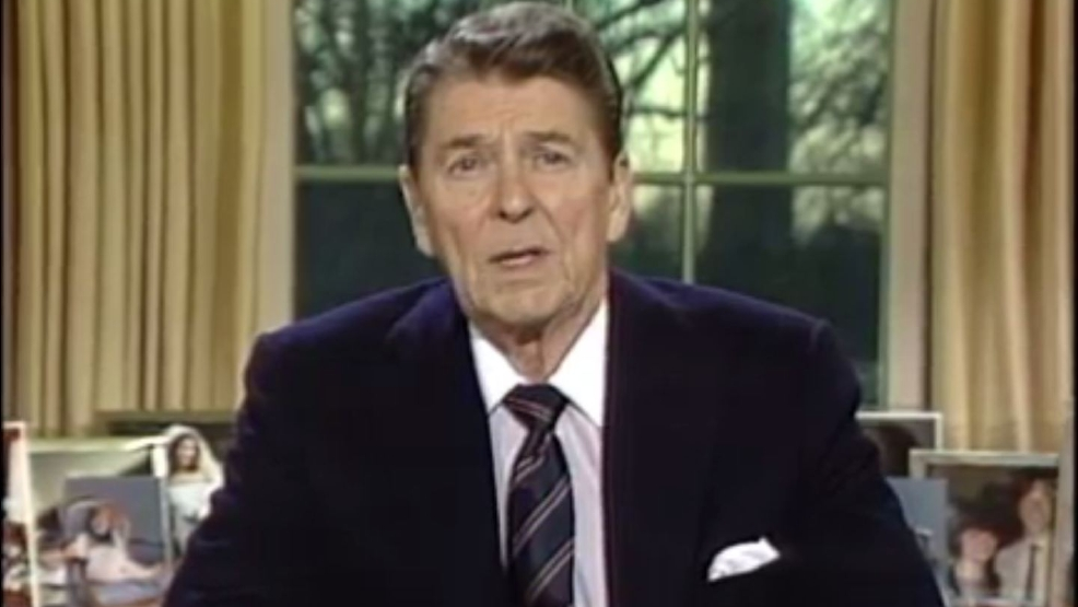 a review of ronald reagans speech on the challenger disaster Below is a transcript of the speech given by president ronald reagan on jan 28, 1986 after space shuttle challenger exploded 73 seconds after liftoff killing all seven astronauts on board ladies.