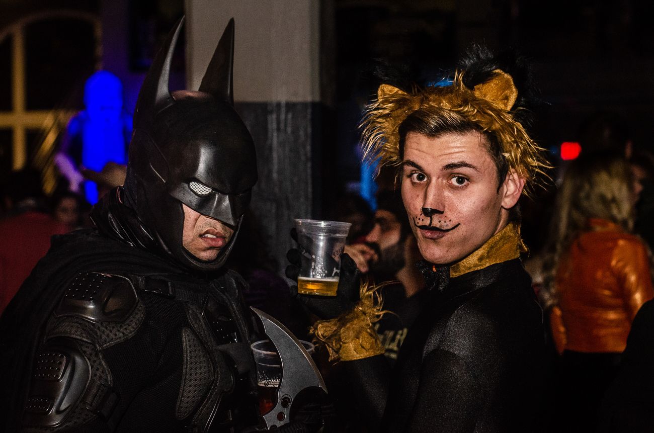Zian Burns as Batman and Joshua Brunk as the not-so-cowardly lion / Image: Kellie Coleman // Published: 10.27.19