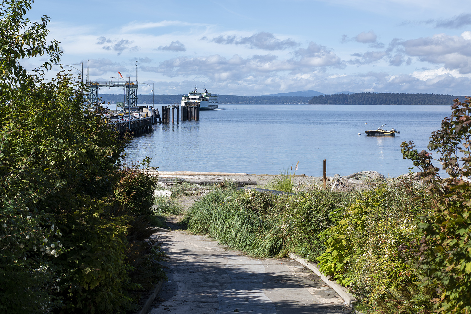 Craving a non-crowded beach break? This cute, little-known park is perfectly situated right beside the Fauntleroy Ferry Dock. Stroll down the paved path to the sandy waterfront beach and enjoy views of the Puget Sound, Vashon Island and floating ferries.{ }(Image: Rachael Jones / Seattle Refined)