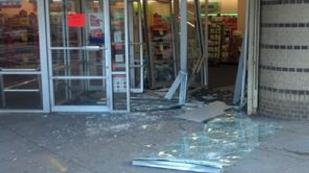 van rams into cvs and steals atm wjla