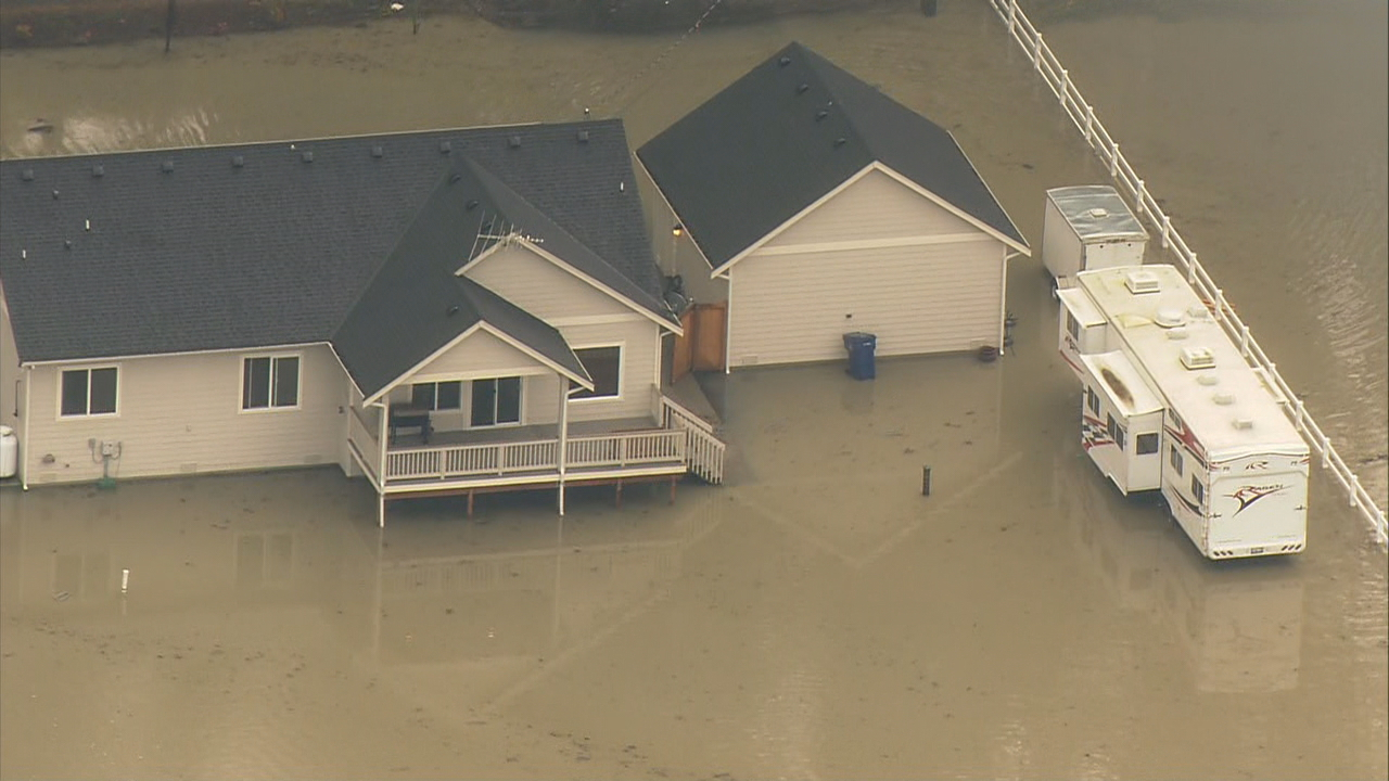 Flooding in Arlington area (Photo: KOMO News)