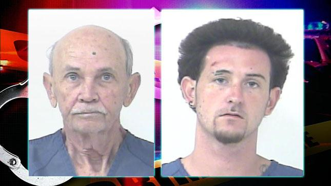 Port St. Lucie Police arrested Dennis Carl Hansen and his son Dennis Bernard Hansen. (Port St. Lucie Police)<p></p>