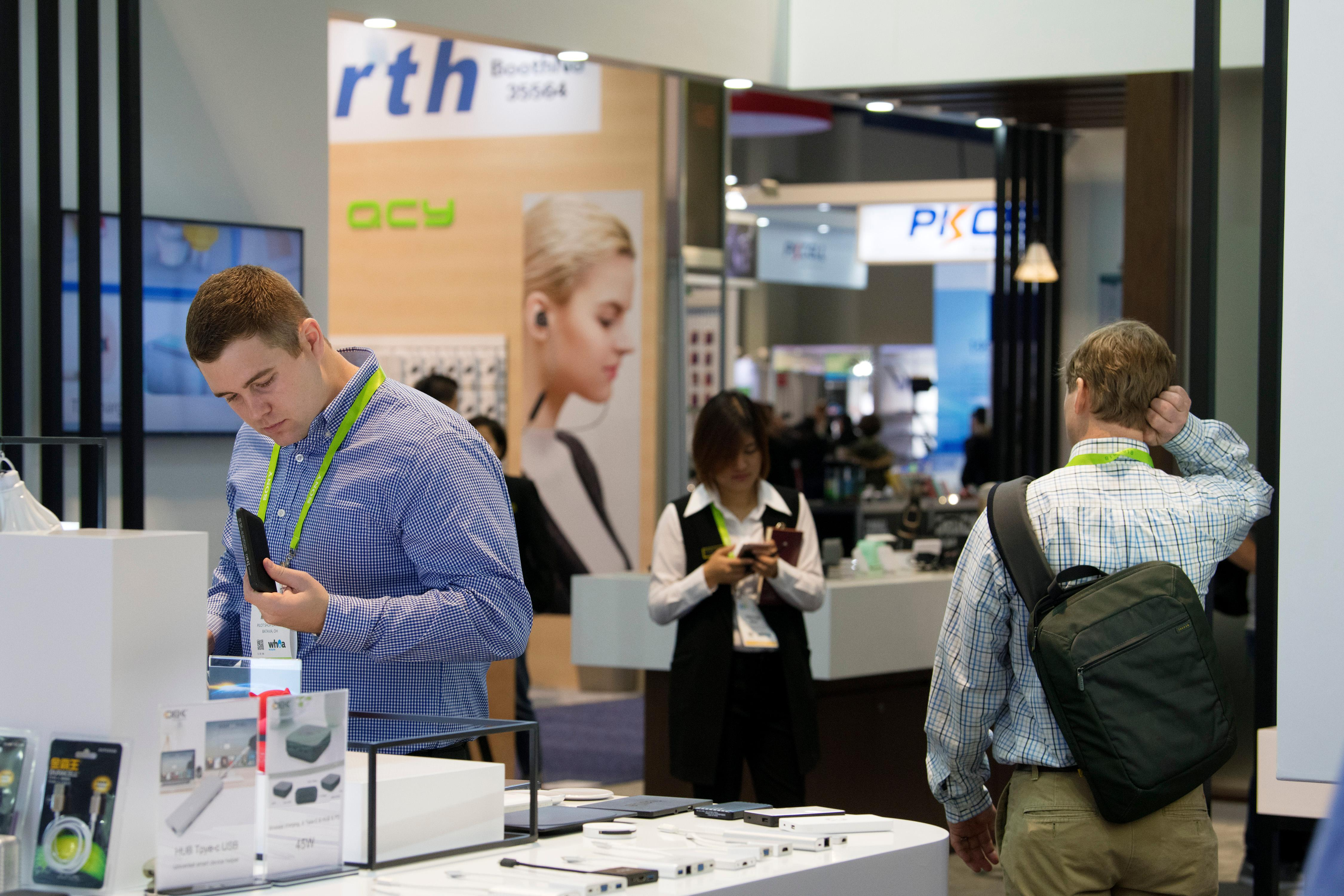 Attendees browse during the second day of CES Wednesday, January 10, 2018, at the Las Vegas Convention Center. CREDIT: Sam Morris/Las Vegas News Bureau