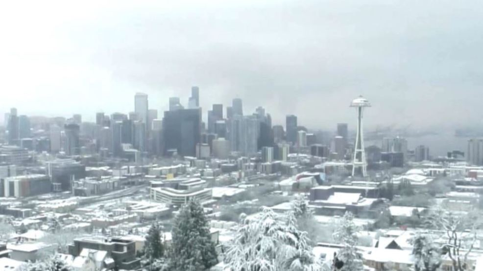 Snow over Christmas holiday managed feat never before done in Seattle