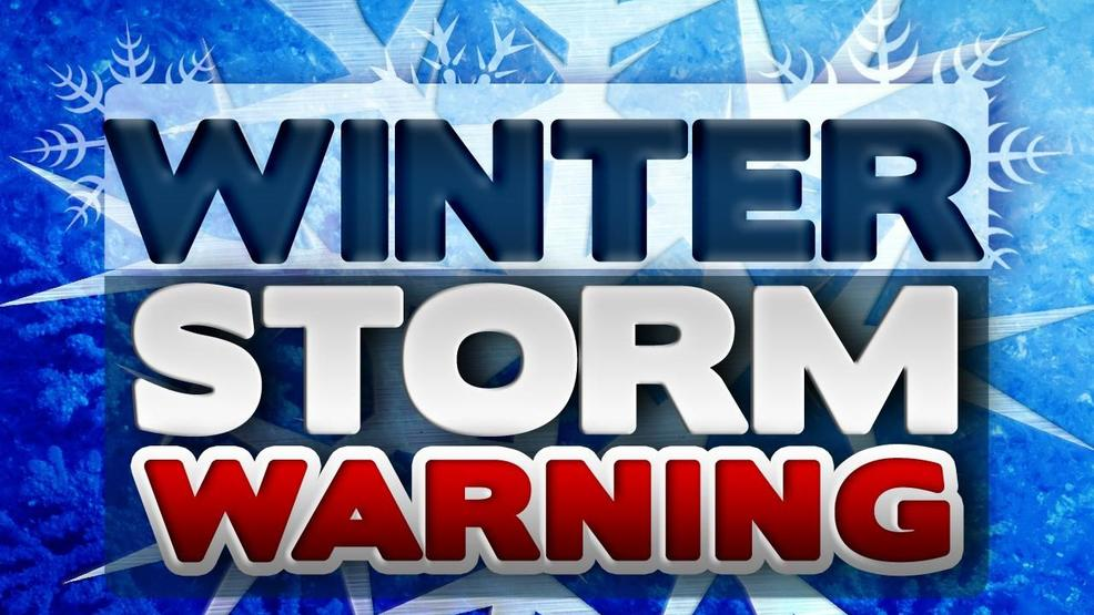 Winter Storm Warning For Mountain Communities