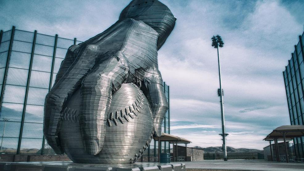 New solar-powered sculpture at Vegas baseball complex hopes to highlight renewable energy