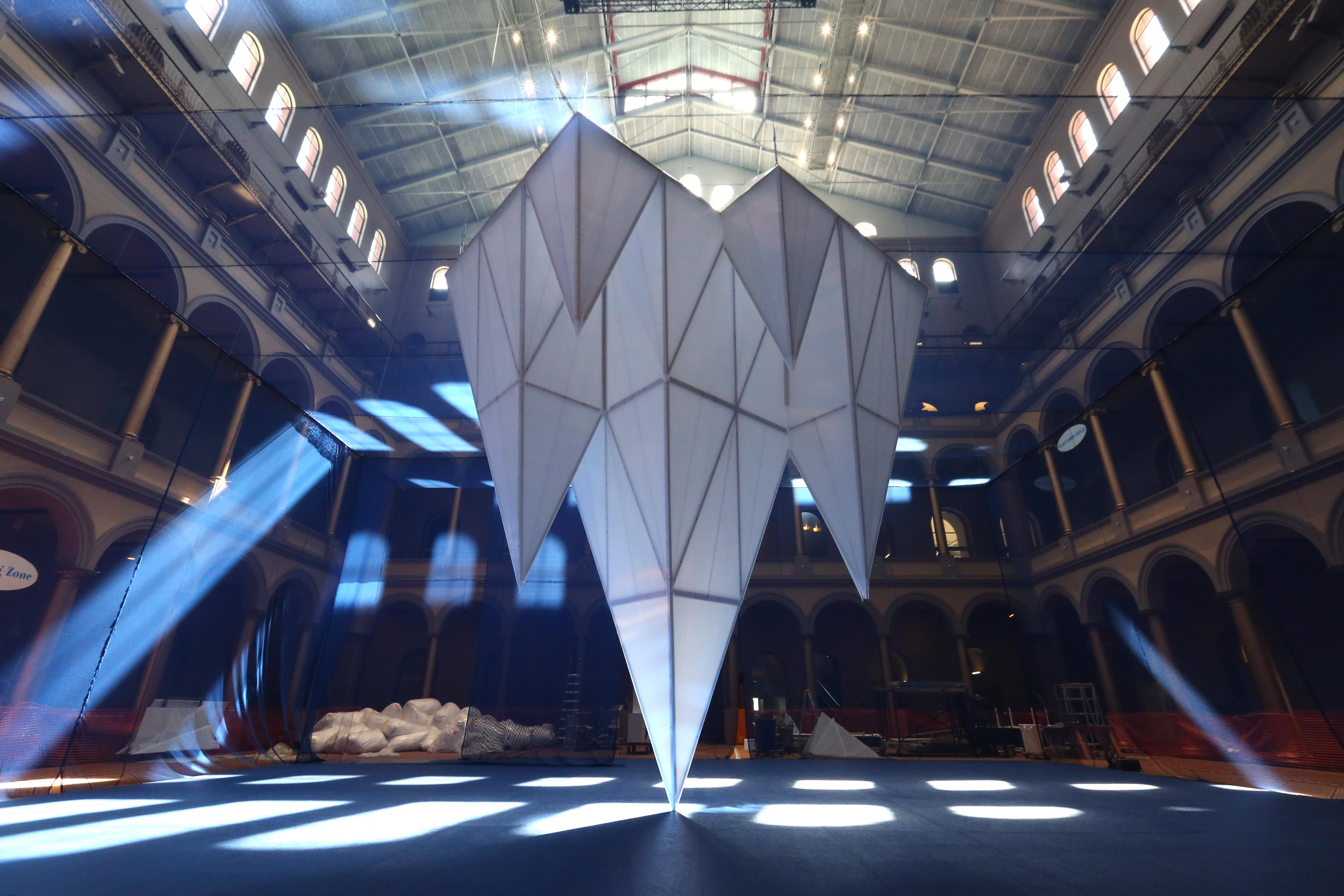 Icebergs at the National Building Museum, July 2016. (Amanda Andrade-Rhoades/DC Refined)