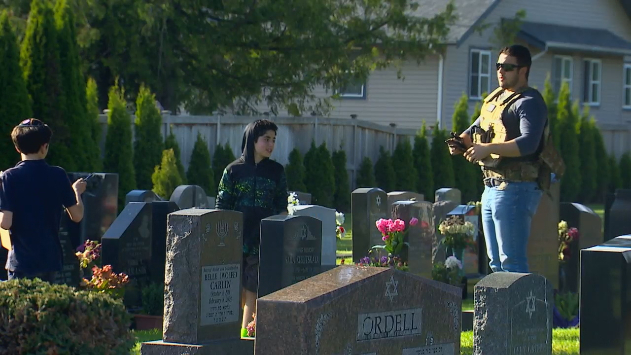 Families said they were forced to bring in security because of ongoing complaints about homeless campers, vandalism and just on Tuesday, people having sex on the tombstones at the Sephardic Jewish cemeteries in North Seattle. (Photo: KOMO News)