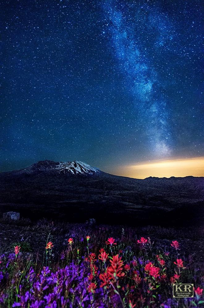 View of Mt. St. Helens. Photo credit KR Backwoods Photography