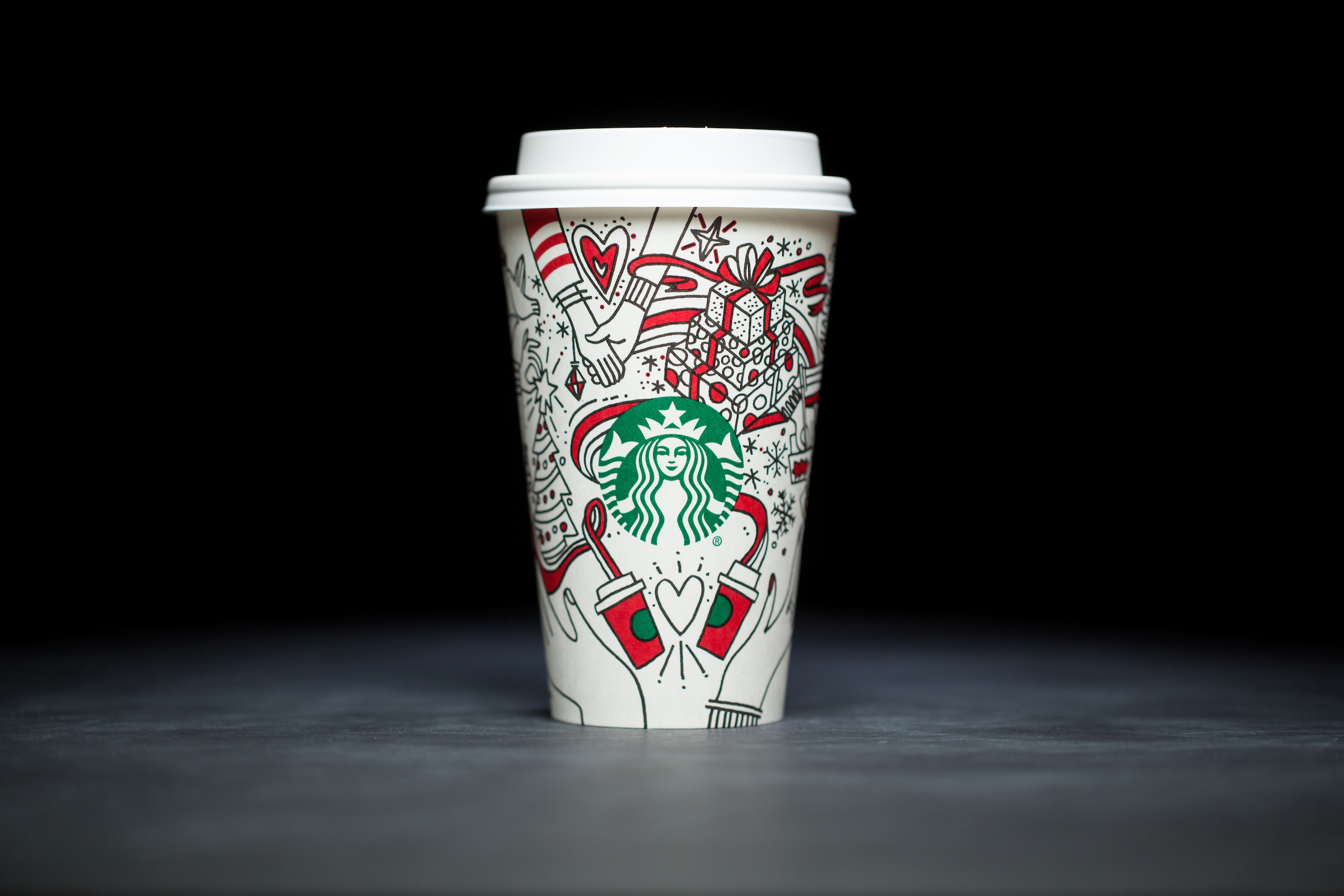 2017: For 20 years, Starbucks have released a range of holiday cup designs, most of them based around their world famous red cup. It's not easy to find the very first Starbucks holiday cups, which made their debut in stores in 1997. Few were saved, and electronic design files were lost in an earthquake in 2001. Even an Internet search is unyielding, with the cups having made their arrival long before the first selfie. But, we have them here! Click on for a photos of all 20 holidays cup designs. (Image: Joshua Trujillo/Cover Images)