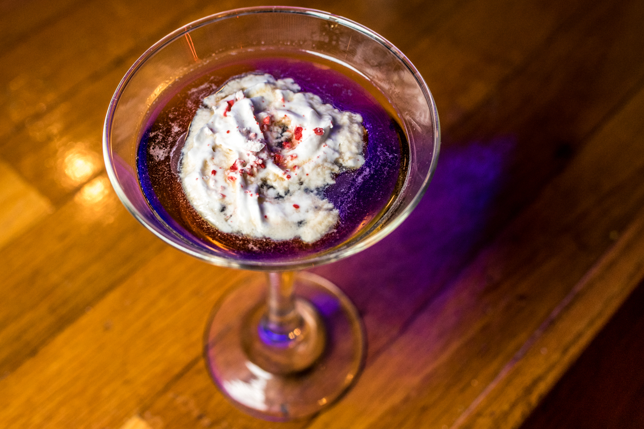 Simple B Martini: Kahlua, Peppermint Schnapps, and cold coffee topped with whipped cream and peppermint / Image: Catherine Viox // Published: 12.26.19