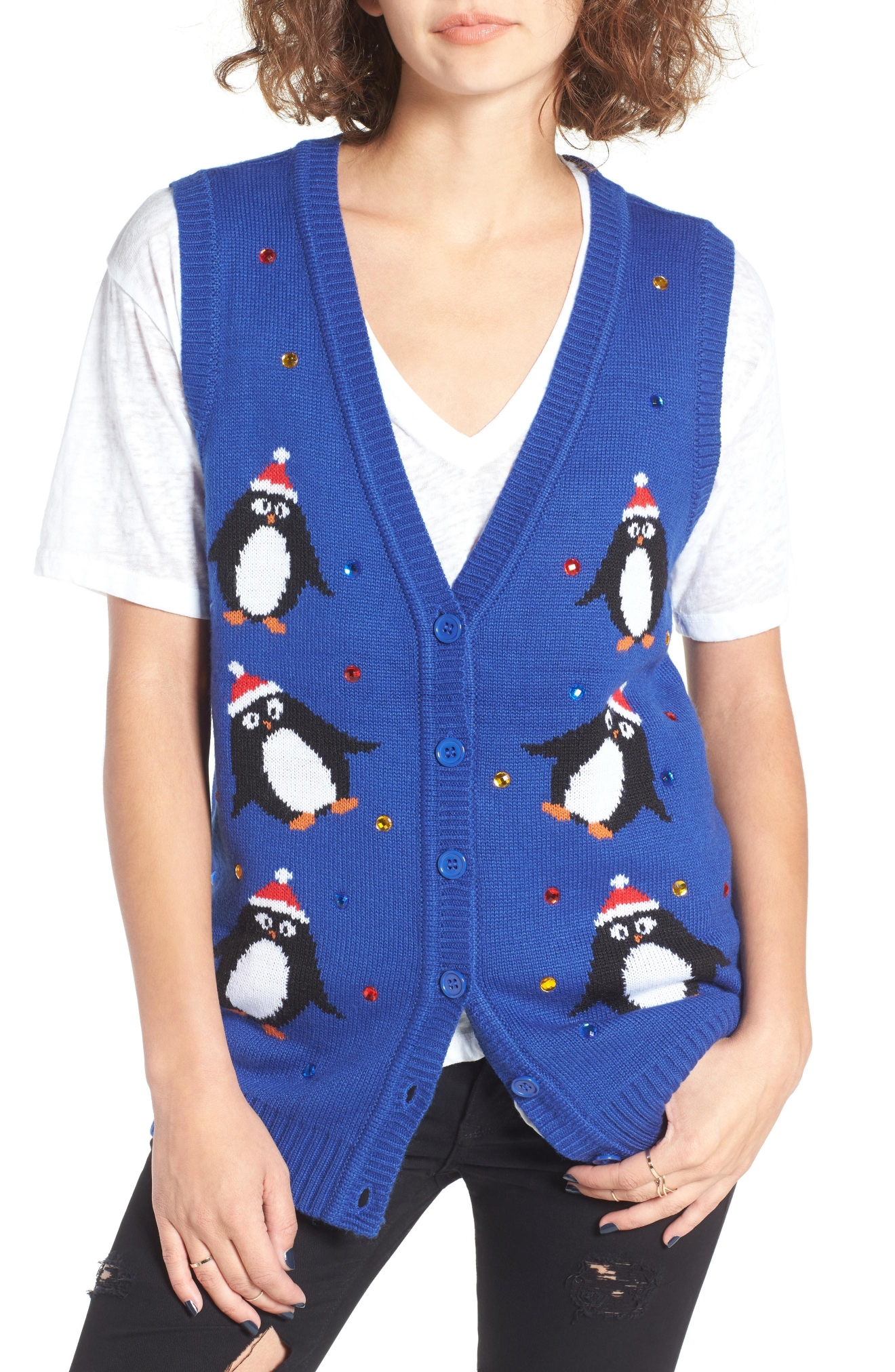 Love By Design Embellished Penguin Sweater Vest, $39(Photo: Nordstrom)