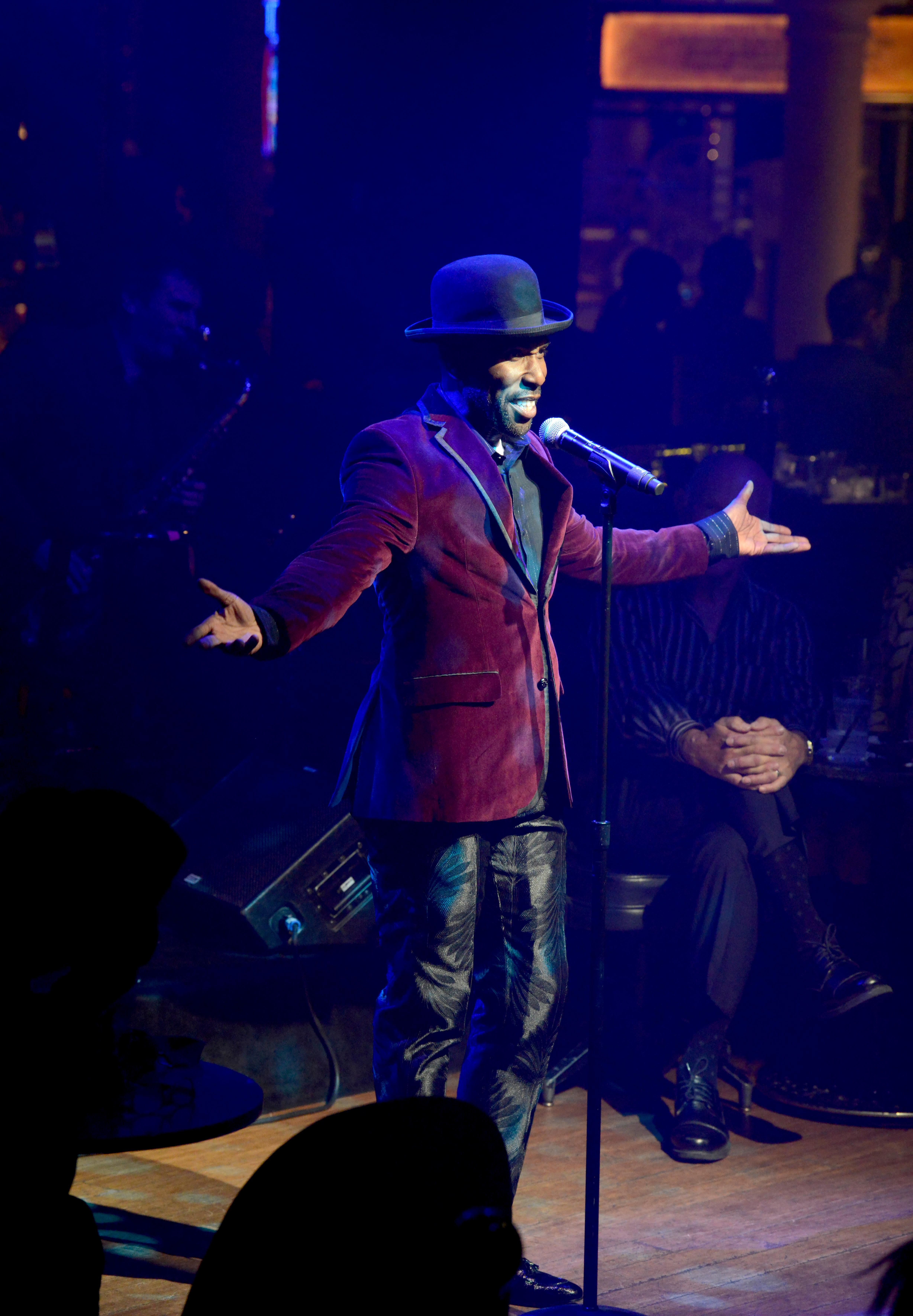"Eric Jordan Young guides the audience through a vintage Vegas cabaret-style evening during opening night of the musical review ""The Cocktail Cabaret"" at Cleopatra's Barge in Caesars Palace Hotel & Casino. Thursday, November 30, 2017. CREDIT: Glenn Pinkerton/Las Vegas News Bureau"