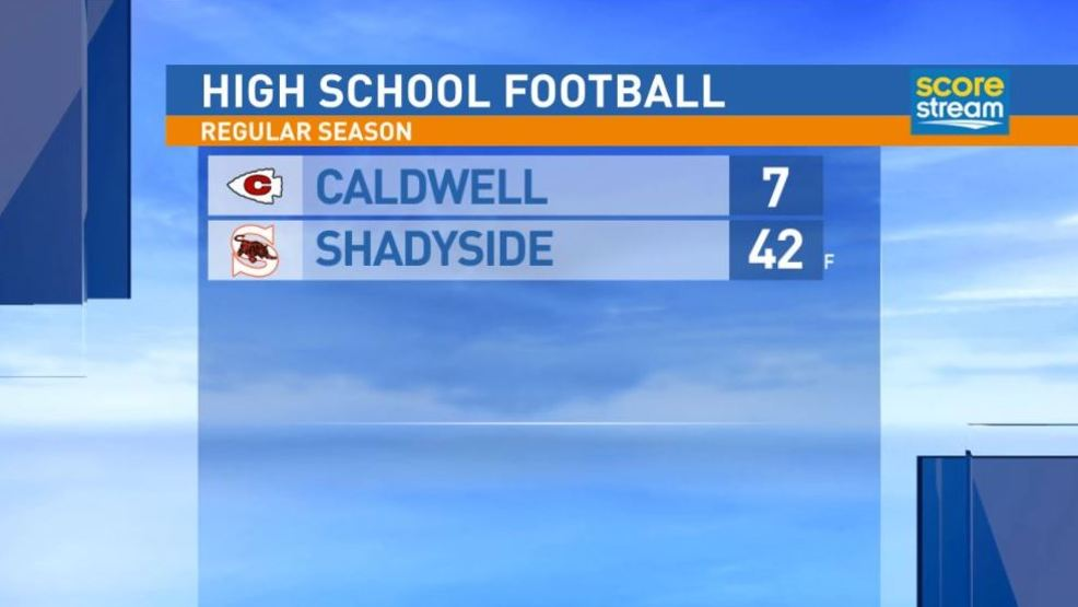 9.22.17 highlights:  Caldwell at Shadyside
