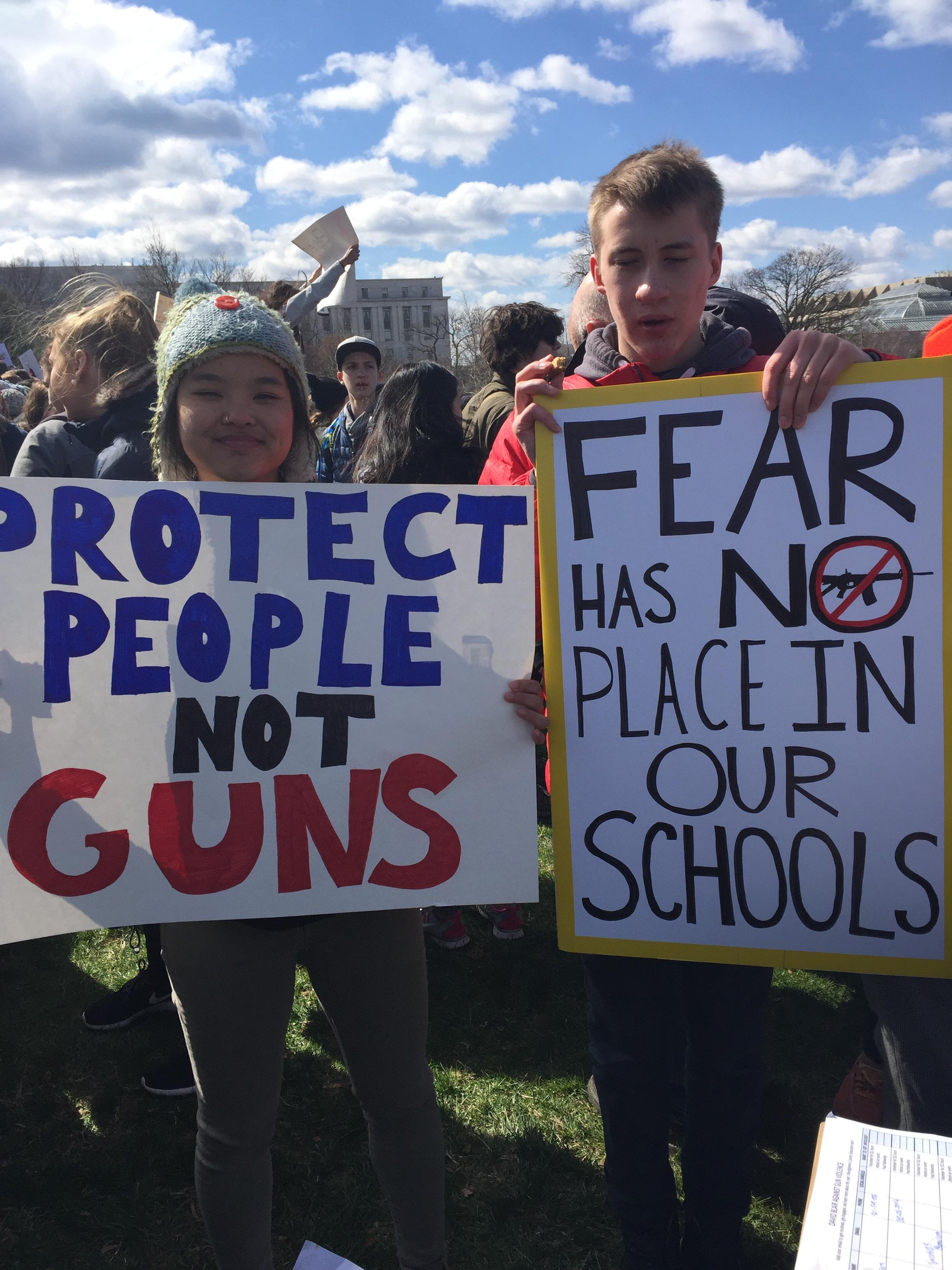 Students demonstrate at the U.S. Capitol during a national school walkout to stop gun violence, Wed., March 14, 2018. (Leandra Bernstein, Sinclair Broadcast Group)