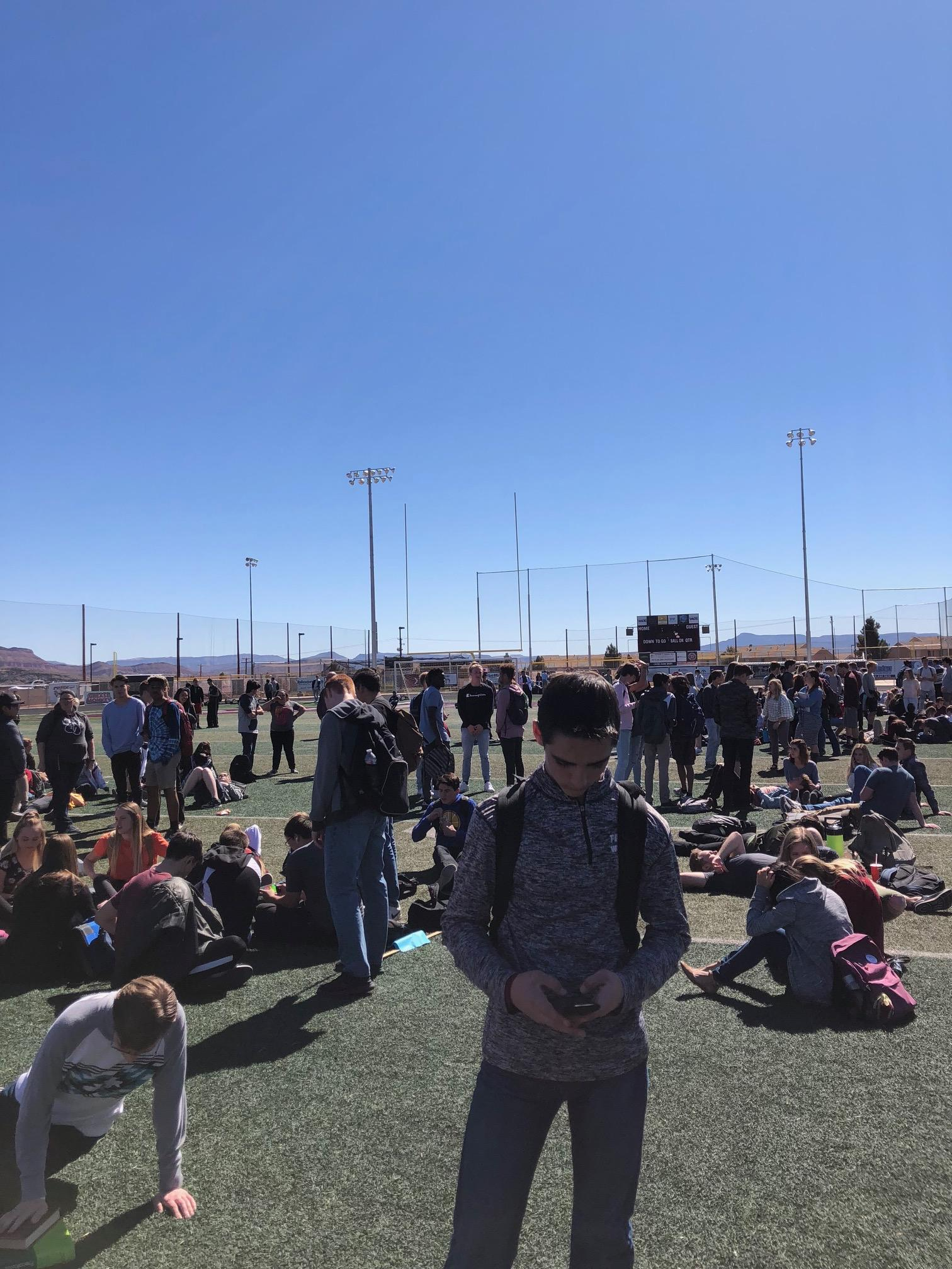 Pineview High School Evacuated (Photo: Jack Whalen)