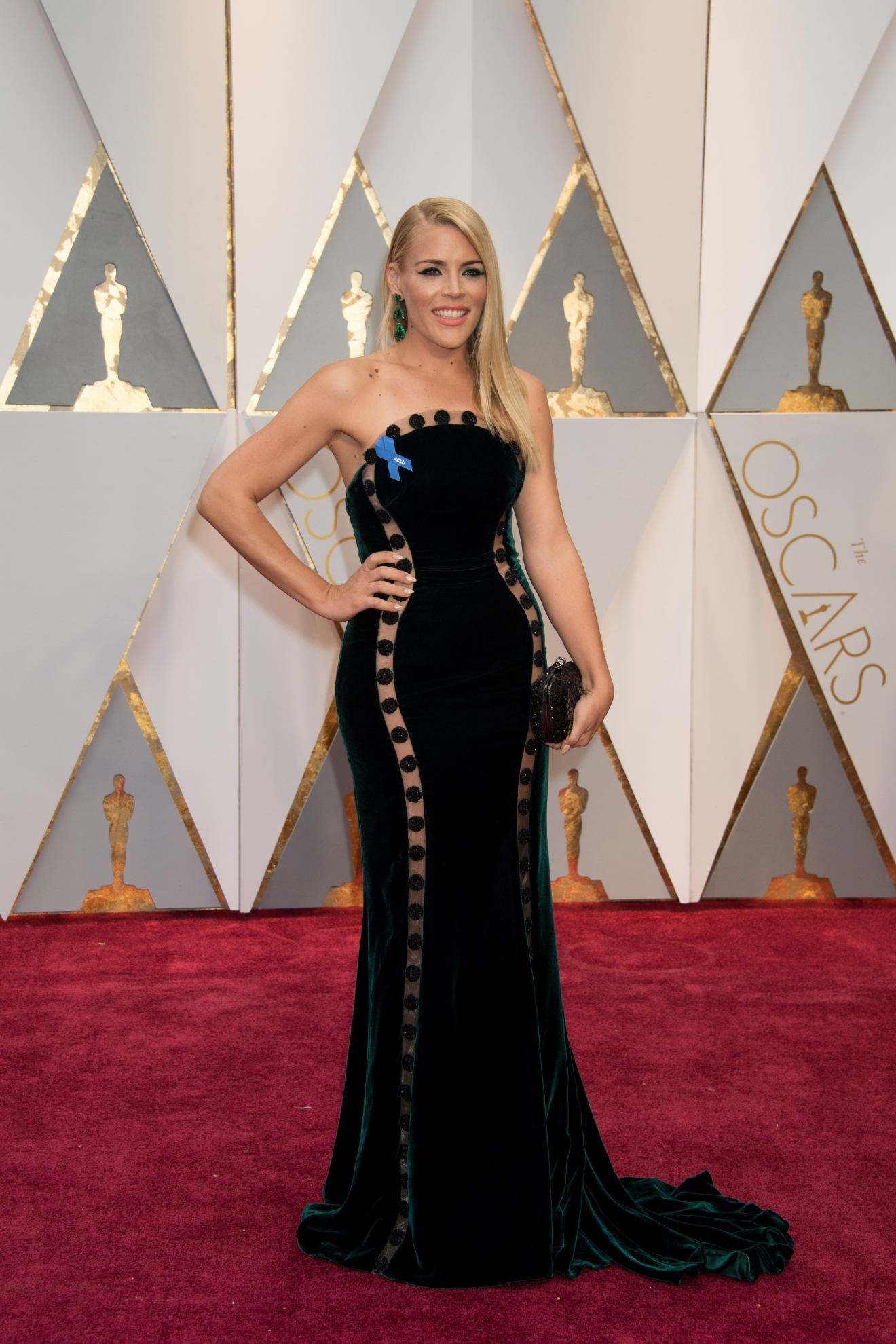 #29: Busy Philipps. For the life of me I can't decide whether I love or dis-love this dress. Seriously. (Image: AMPAS)