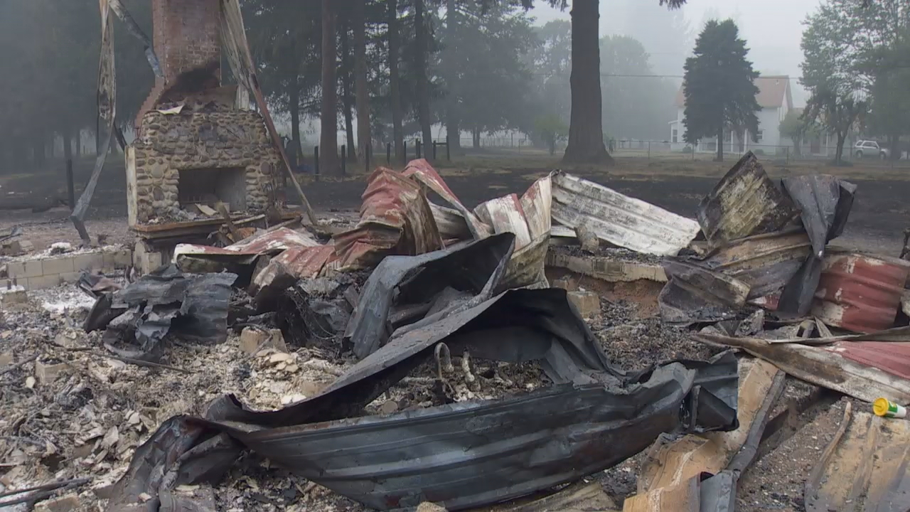 Homes destroyed due to Beachie Creek Fire (KATU Photo)