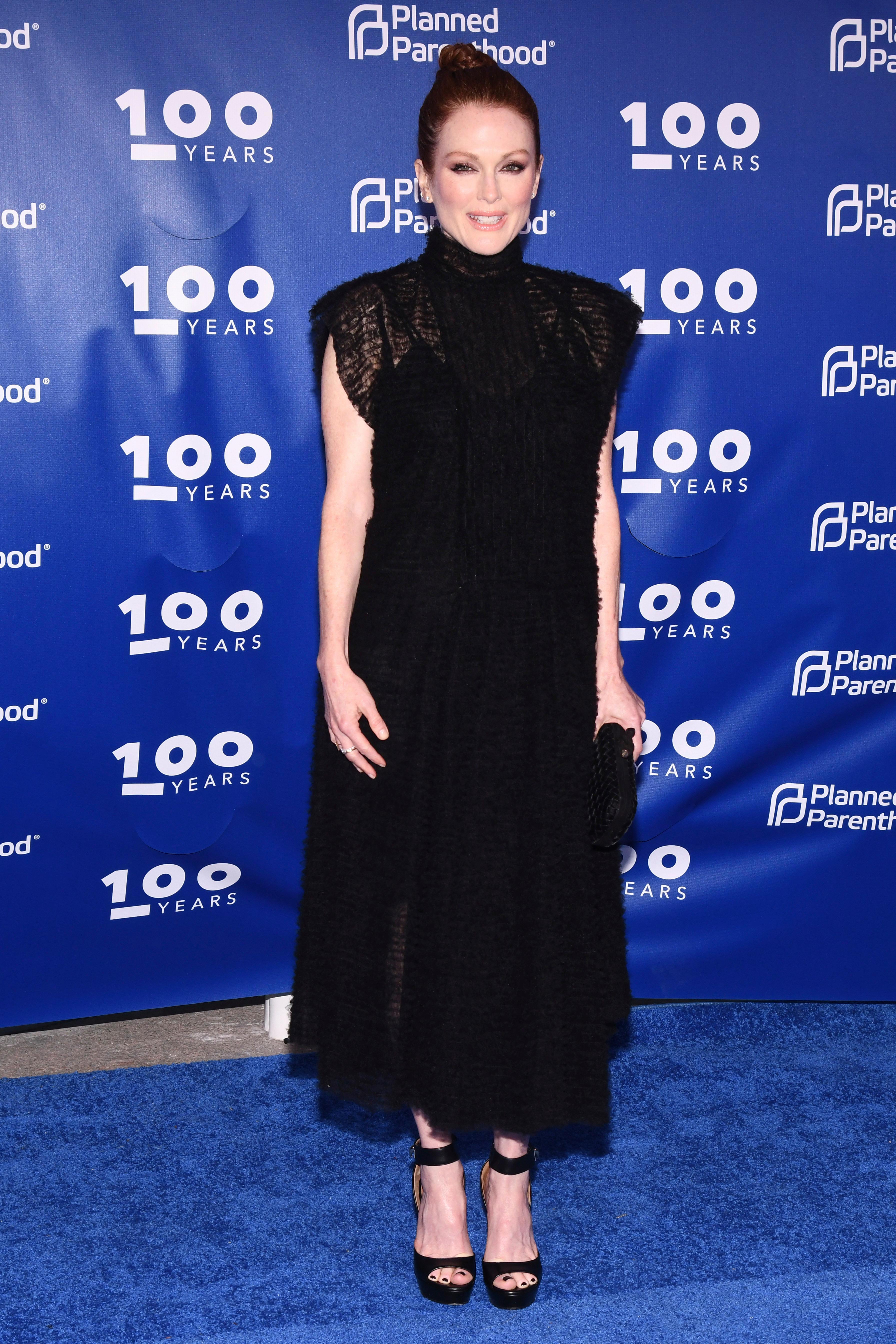 Julianne Moore attends the Planned Parenthood 100th Anniversary Gala on Tuesday, May 2, 2017 in New York. (Photo by Charles Sykes/Invision/AP)