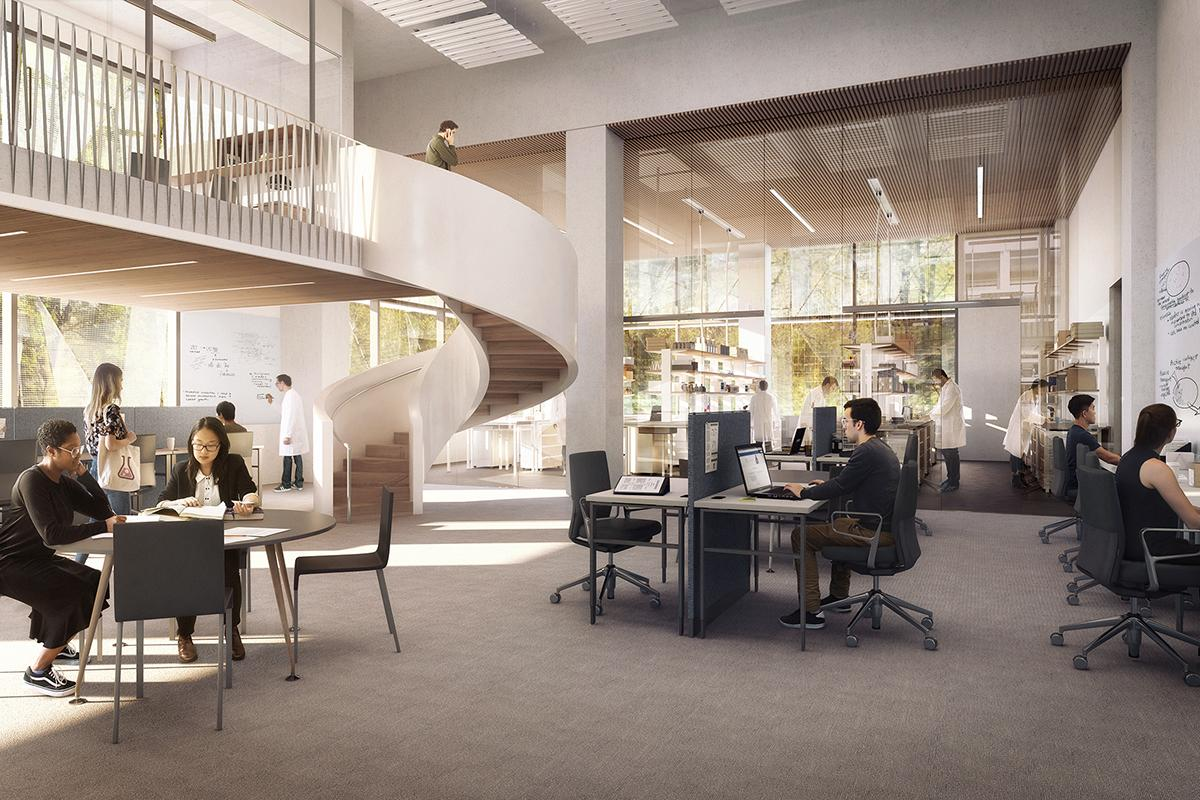The University of Oregon unveiled architectural renderings of the Phil and Penny Knight Campus for Accelerating Scientific Impact on Friday, October 27. The $1 billion initiative is buoyed by a $500 million gift from Penny and Phil Knight. (Courtesy University of Oregon)