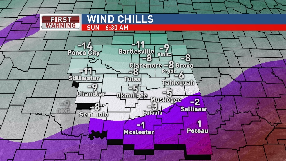 Snow possible along with dangerous wind chills