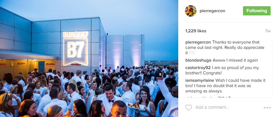 And speaking of Garcon, his annual White Party fundraiser for the Boys and Girls Club of Greater Washington is always draws huge crowds. (Image: @pierregarcon Instagram)